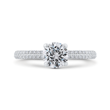 Load image into Gallery viewer, CA0518EH-37W-1.00 Bridal Jewelry Carizza White Gold Round Diamond Engagement Rings