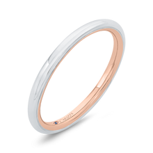 Load image into Gallery viewer, 14K Two-Tone Gold Plain Wedding Band