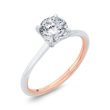 Load image into Gallery viewer, 14K Two-Tone Gold Diamond Solitaire Plus Engagement Ring (Semi-Mount)