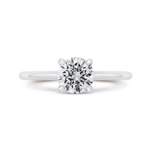 Load image into Gallery viewer, CA0523EH-37WP-1.00 Bridal Jewelry Carizza White Gold,Rose Gold Round Diamond Solitaire Engagement Rings