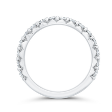 Load image into Gallery viewer, 14K White Gold Half-Eternity Wedding Band