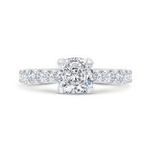 Load image into Gallery viewer, CA0524EQ-37W-1.50 Bridal Jewelry Carizza White Gold Round Diamond Engagement Rings