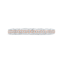 Load image into Gallery viewer, CA0527BH-37WP-1.00 Bridal Jewelry Carizza White Gold,Rose Gold Diamond Wedding Bands