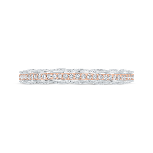 CA0527BH-37WP-1.00 Bridal Jewelry Carizza White Gold,Rose Gold Diamond Wedding Bands