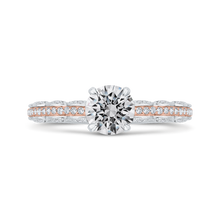 Load image into Gallery viewer, CA0527EH-37WP-1.00 Bridal Jewelry Carizza White Gold,Rose Gold Round Diamond Engagement Rings
