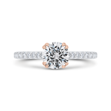 Load image into Gallery viewer, CA0528EH-37WP-1.00 Bridal Jewelry Carizza White Gold,Rose Gold Round Diamond Engagement Rings
