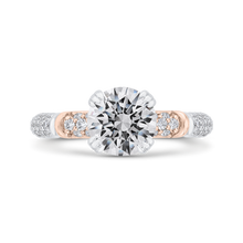 Load image into Gallery viewer, CA0529EH-37WP-1.50 Bridal Jewelry Carizza White Gold,Rose Gold Round Diamond Engagement Rings