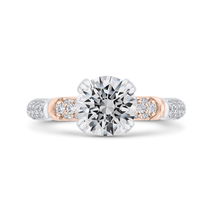 CA0529EH-37WP-1.50 Bridal Jewelry Carizza White Gold,Rose Gold Round Diamond Engagement Rings