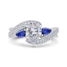 Load image into Gallery viewer, CAA0065E-S37W Bridal Jewelry Carizza White Gold Pear Diamond Engagement Rings