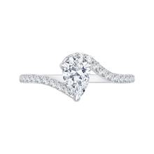 Load image into Gallery viewer, CAA0137EH-37W Bridal Jewelry Carizza White Gold Pear Diamond Engagement Rings