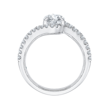 Load image into Gallery viewer, 14K White Gold Pear Diamond Promise Engagement Ring (Semi Mount)