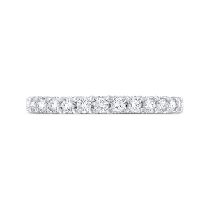CAA0427BH-37W-1.45 Bridal Jewelry Carizza White Gold Round Diamond Wedding Bands