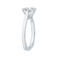Load image into Gallery viewer, 14K White Gold Emerald Cut Diamond Solitaire Engagement Ring (Semi Mount)
