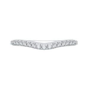 CAE0193BH-37W-1.50 Bridal Jewelry Carizza White Gold Round Diamond Wedding Bands