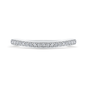 CAE0245BH-37W-1.50 Bridal Jewelry Carizza White Gold Round Diamond Wedding Bands