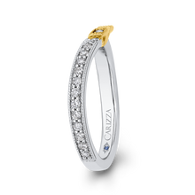 Load image into Gallery viewer, Round Diamond Wedding Band In 14K Two Tone Gold