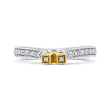 Load image into Gallery viewer, CAE0250BQ-37WY-2.00 Bridal Jewelry Carizza White Gold Rose Gold Yellow Gold Round Diamond Wedding Bands