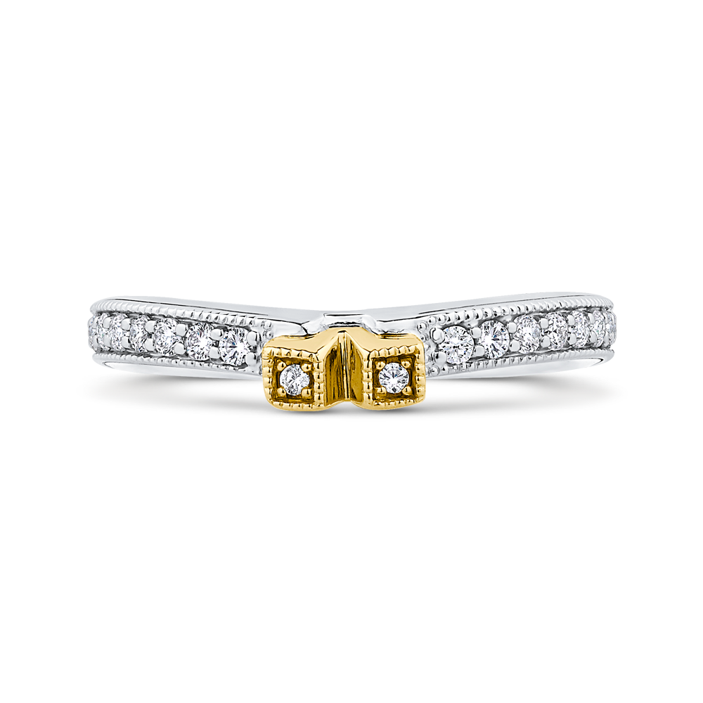CAE0250BQ-37WY-2.00 Bridal Jewelry Carizza White Gold Rose Gold Yellow Gold Round Diamond Wedding Bands