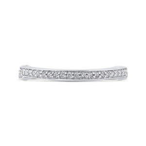 CAE0287BH-37W-2.00 Bridal Jewelry Carizza White Gold Round Diamond Wedding Bands