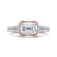 Load image into Gallery viewer, CAE0484EH-37WP-1.50 Bridal Jewelry Carizza White Gold,Rose Gold Emerald Diamond Engagement Rings