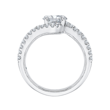 Load image into Gallery viewer, 14K White Gold Oval Cut Diamond Promise Engagement Ring (Semi Mount)