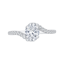 Load image into Gallery viewer, CAO0137EH-37W Bridal Jewelry Carizza White Gold Oval Diamond Engagement Rings