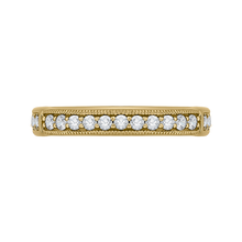 Load image into Gallery viewer, CAO0206B-37 Bridal Jewelry Carizza Yellow Gold Round Diamond Wedding Bands