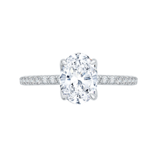 Load image into Gallery viewer, CAO0208E-37W-1.50 Bridal Jewelry Carizza White Gold Oval Diamond Engagement Rings