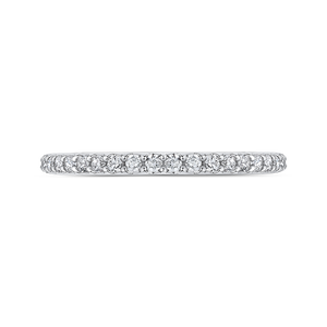 CAO0226B-37W-1.50 Bridal Jewelry Carizza White Gold Round Diamond Wedding Bands