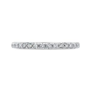 CAO0233BH-37W-1.50 Bridal Jewelry Carizza White Gold Round Diamond Wedding Bands