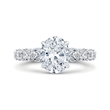 Load image into Gallery viewer, CAO0265E-37W-2.00 Bridal Jewelry Carizza White Gold Oval Diamond Engagement Rings