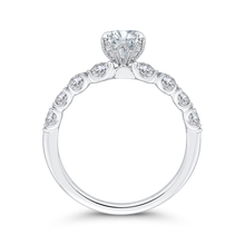 Load image into Gallery viewer, 14K White Gold Oval Diamond Engagement Ring (Semi Mount)