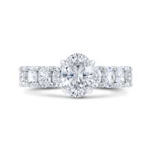 Load image into Gallery viewer, CAO0421EH-37W-1.25 Bridal Jewelry Carizza White Gold Oval Diamond Engagement Rings