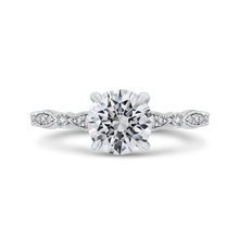 Load image into Gallery viewer, CAO0453E-37W-1.10 Bridal Jewelry Carizza White Gold Round Diamond Engagement Rings