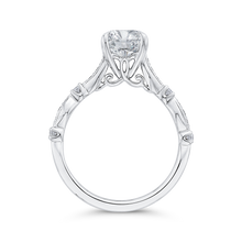 Load image into Gallery viewer, Round Diamond Engagement Ring In 14K White Gold (Semi Mount)