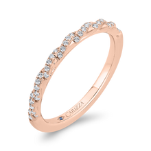 Load image into Gallery viewer, 14K Rose Gold Diamond Wedding Band