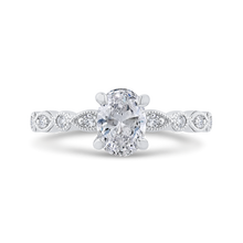 Load image into Gallery viewer, CAO0507EH-37W-1.00 Bridal Jewelry Carizza White Gold Oval Diamond Engagement Rings