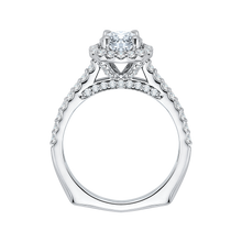 Load image into Gallery viewer, 14K White Gold Princess Diamond Halo Engagement Ring (Semi Mount)