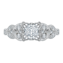 Load image into Gallery viewer, CAP0043E-37W Bridal Jewelry Carizza White Gold Princess Cut Diamond Engagement Rings