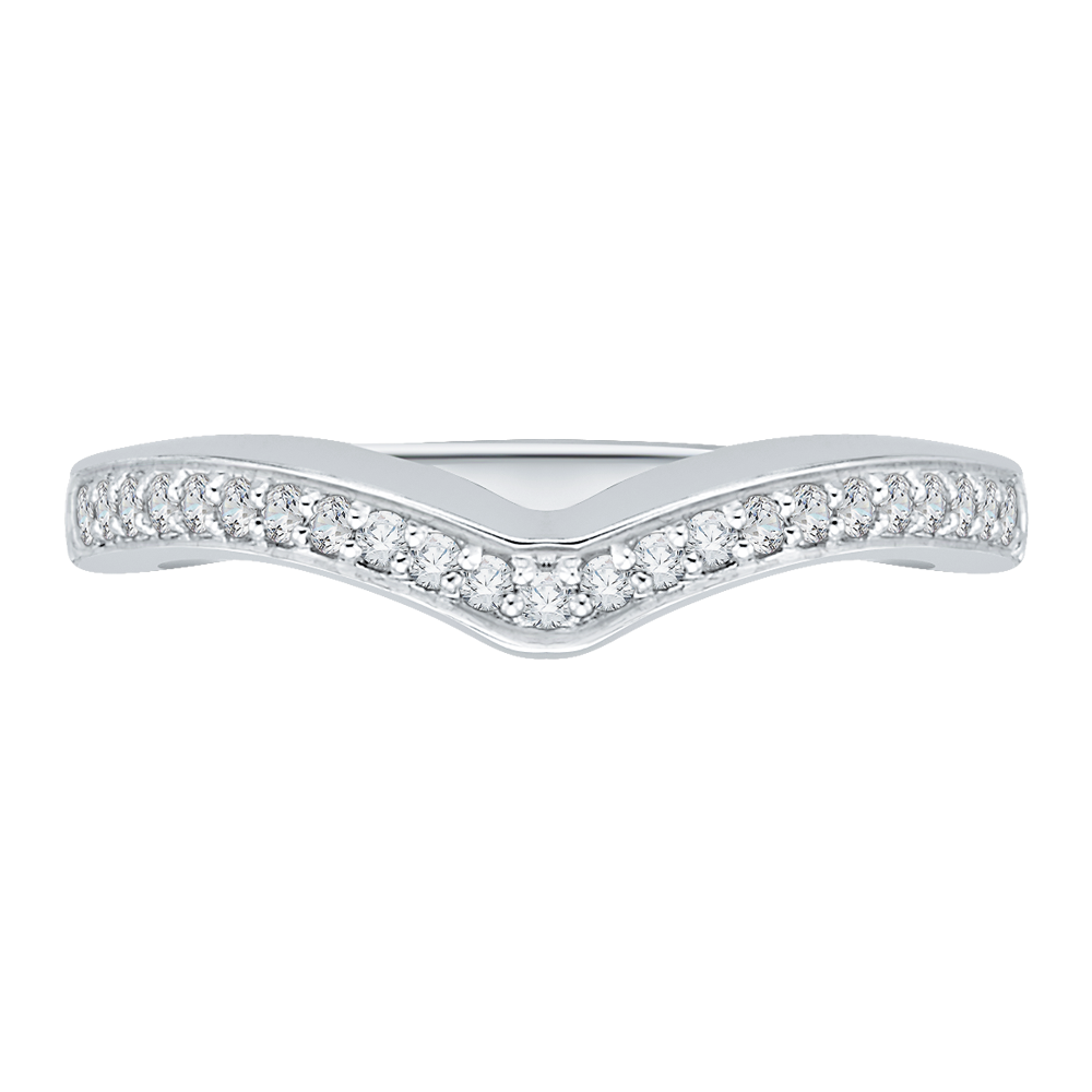 CAP0112B-37W-1.00 Bridal Jewelry Carizza White Gold Diamond Wedding Bands