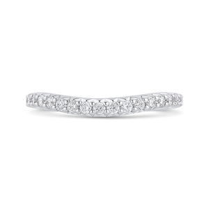 CAQ0422BH-37W-2.00 Bridal Jewelry Carizza White Gold Round Diamond Wedding Bands