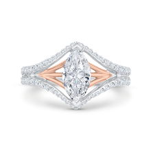 Load image into Gallery viewer, CAQ0526EH-37WP-1.50 Bridal Jewelry Carizza White Gold,Rose Gold Marquise Cut Diamond Engagement Rings