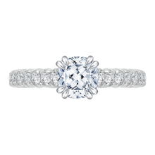 Load image into Gallery viewer, CAU0039E-37W Bridal Jewelry Carizza White Gold Cushion Cut Diamond Engagement Rings