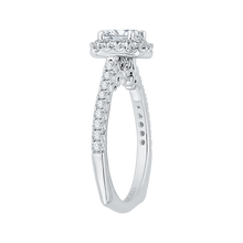 Load image into Gallery viewer, Cushion Cut Halo Diamond Engagement Ring In 14K White Gold (Semi Mount)