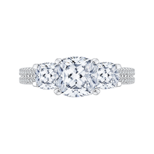 Load image into Gallery viewer, CAU0190EH-S37W-1.75 Bridal Jewelry Carizza White Gold Cushion Cut Diamond 3 Stone Engagement Rings
