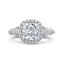 Load image into Gallery viewer, CAU0288E-37W-2.00 Bridal Jewelry Carizza White Gold Cushion Cut Diamond Halo Engagement Rings