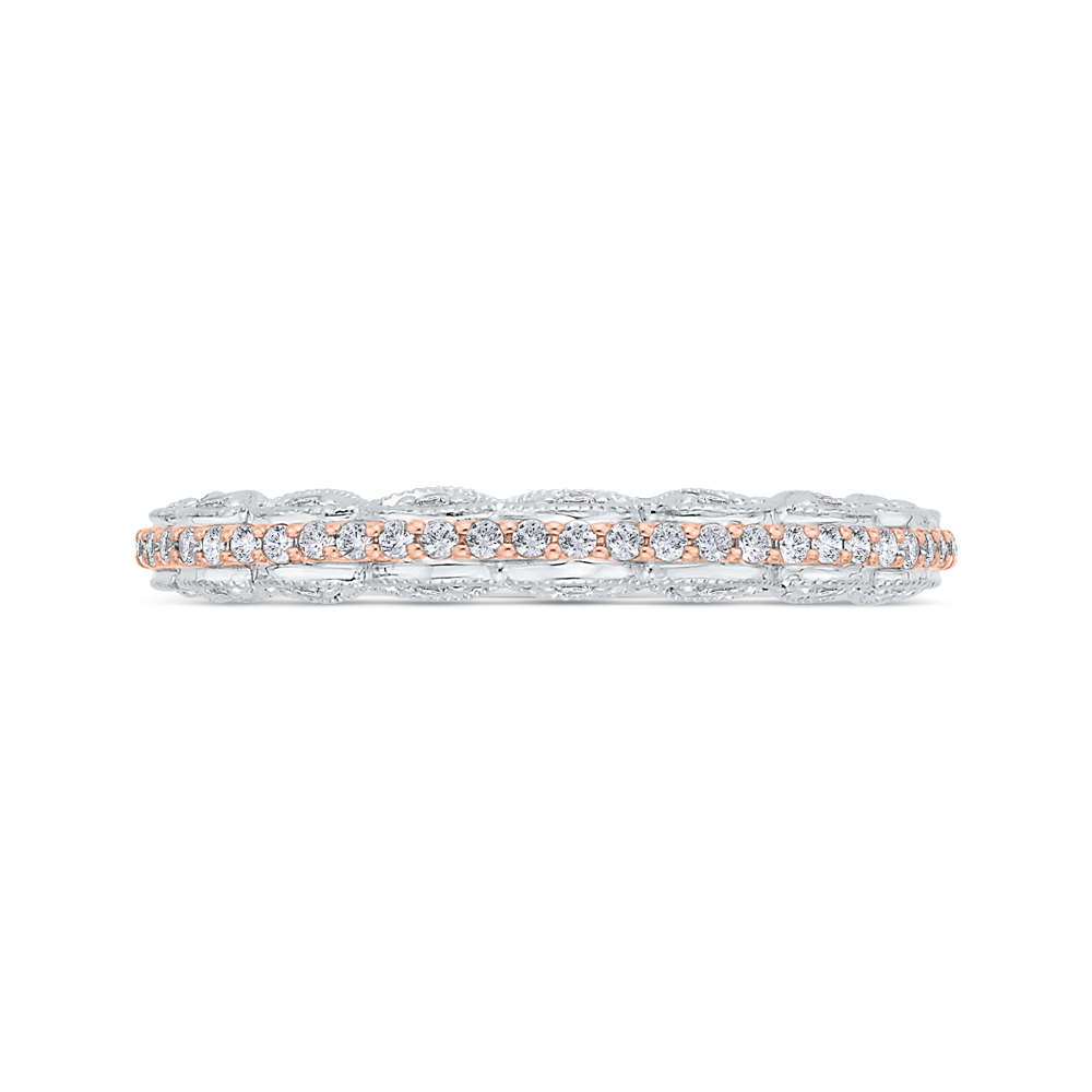 CAU0532BH-37WP-1.00 Bridal Jewelry Carizza White Gold,Rose Gold Diamond Wedding Bands