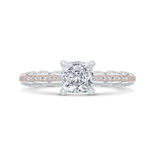 Load image into Gallery viewer, CAU0532EH-37WP-1.00 Bridal Jewelry Carizza White Gold,Rose Gold Cushion Cut Diamond Engagement Rings