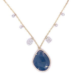 Meira T | Sapphire Slice and Diamond Necklace