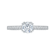 Load image into Gallery viewer, PR0004EC-02W Bridal Jewelry Carizza White Gold Round Diamond Engagement Rings